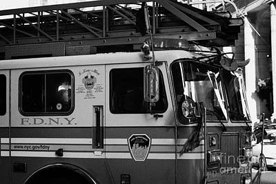 front of FDNY fire engine new york city Art Print by Joe Fox
