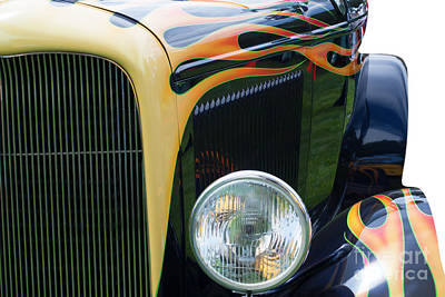 Art Print featuring the photograph Front Of Hot Rod Car by Gunter Nezhoda