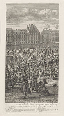 Front Of The Procession Of King Louis Xiv Of France Art Print