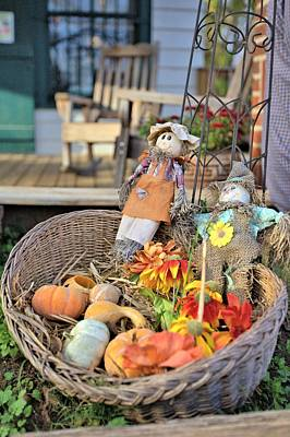 Photograph - Front Porch Basket by Gordon Elwell