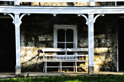 Front Porch Bench Art Print by Bill Cannon