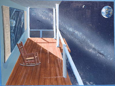 The Universe Painting - Front Porch On The Universe by Mario Elia