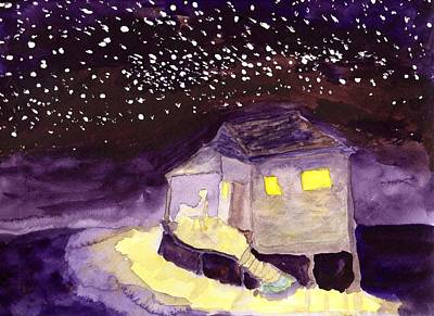 Front Porch Stars Art Print