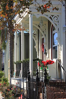 Shotgun Houses Wall Art - Photograph - Front Porch by Vicki Genna
