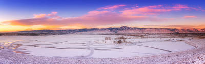 Ice Fishing Photograph - Front Range Sunrise by Darren  White