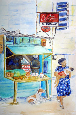 Painting - Front Street Shop by Patricia Beebe
