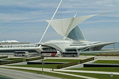 Front View Milwaukee Art Museum Art Print by Devinder Sangha