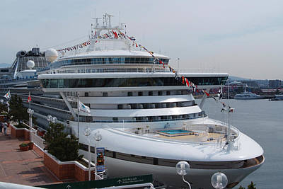 Photograph - Front View Of Cruise Ship by Devinder Sangha