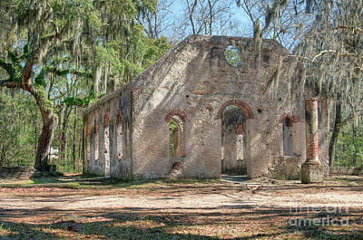 Front View Of The Chapel Of Ease Art Print