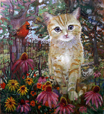 Painting - Front Yard Kitty by Paul Emory