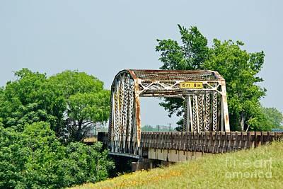 Gold Pattern - Frontage Rd. Iron Bridge by Gary Richards