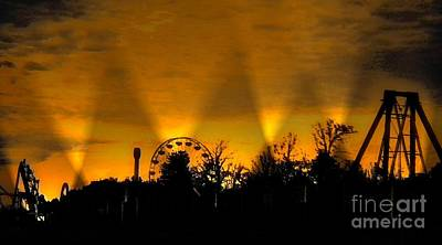 Photograph - Frontier City At Dawn by Janette Boyd