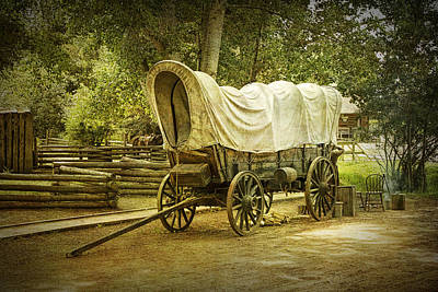 Frontier Covered Wagon Art Print by Randall Nyhof