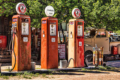 Truck Photograph - Frontier Gas Pumps by Steven Bateson