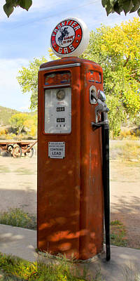 Gas Pump Wall Art - Photograph - Frontier Gas - Tokheim Gas Pump by Mike McGlothlen