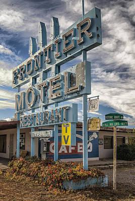 Frontier Motel Truxton Arizona Art Print by Gary Warnimont
