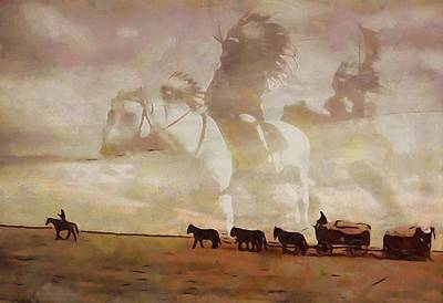 Wagon Mixed Media - Frontier Spirit by Dan Sproul