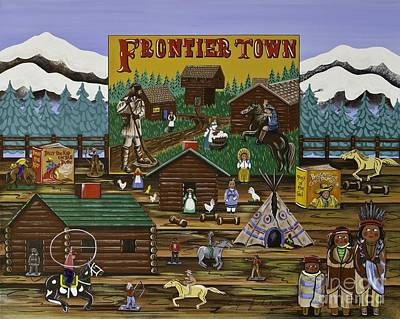 Painting - Frontier Town by Jennifer Lake