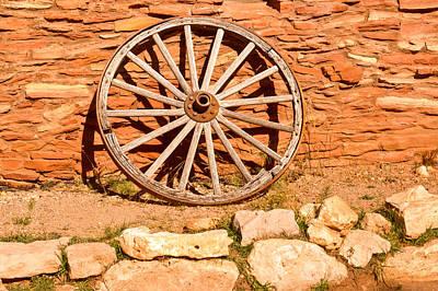 Wagon Wheel Hub Wall Art - Photograph - Frontier Wagon Wheel by Douglas Barnett