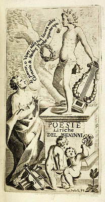 Frontispiece To 'delle Poesie Di F. M.' Art Print by British Library