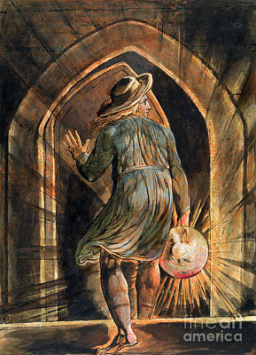 Disc Painting - Frontispiece To Jerusalem by William Blake