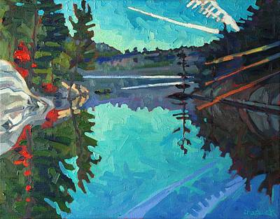 Frood Lake Outlet Print by Phil Chadwick