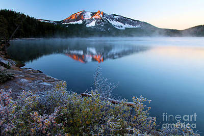 Photograph - Frost At Paulina Lake by Adam Jewell