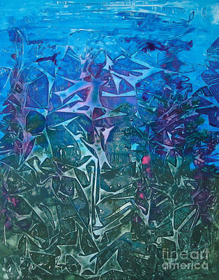 Painting - Lagoon Bloom by Heather  Hiland