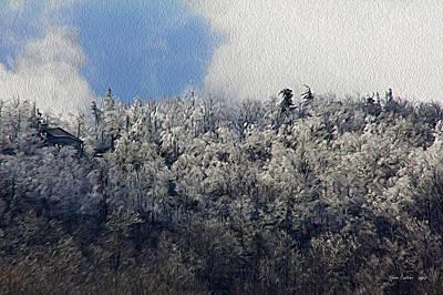Frost Line Art Print