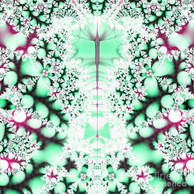 Digital Art - Frost On The Grass Fractal by Rose Santuci-Sofranko