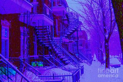 Photograph - Frost On  Winding Staircases by Carole Spandau