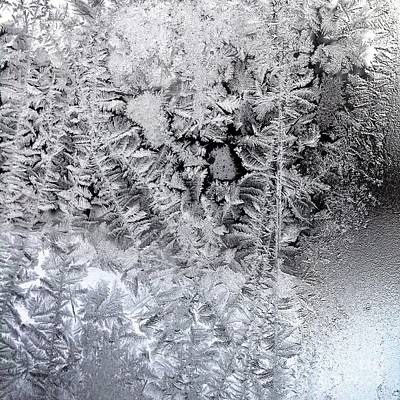 Frost Windowpane In Maine Number One Art Print by Patricia E Sundik