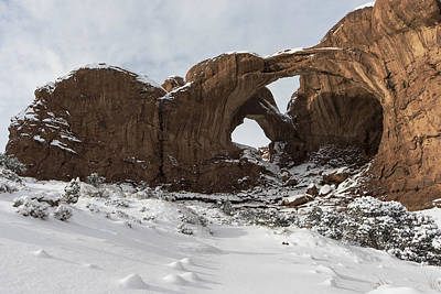 Frosted Double Arch Art Print by Mike Herdering