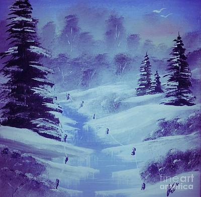 Snow Painting - Frosted Landscape by Collin A Clarke