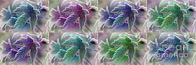 Painting - Frosted Maple Leaves In Cool Shades by J McCombie