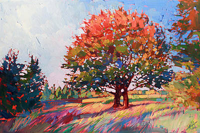 Frosted Oak Print by Erin Hanson
