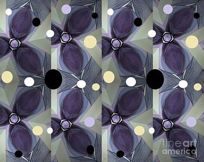 Mixed Media - Frosted Purple Flower by Ann Calvo