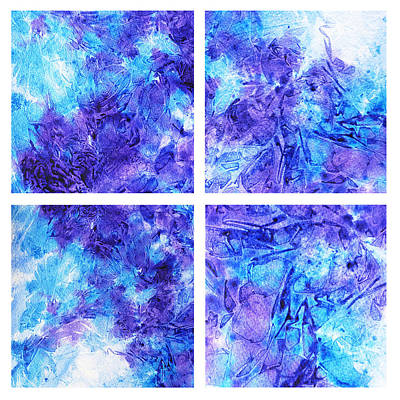 Painting - Frosted Window Abstract Collage by Irina Sztukowski