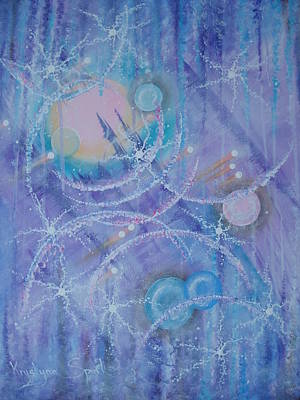 Frosticles Art Print by Krystyna Spink