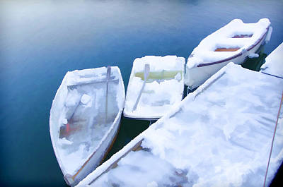 Gloucester Photograph - Frosty Boats by Donna Doherty