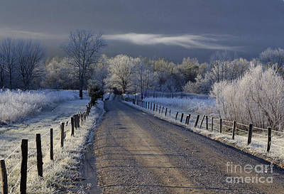 Frosty Cades Cove Hdr Art Print by Douglas Stucky