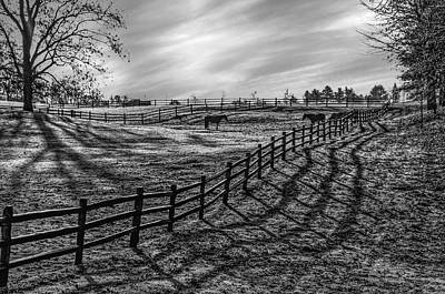 Frosty Corral At Dawn Art Print