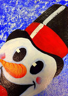 Painting - Frosty by Darren Robinson