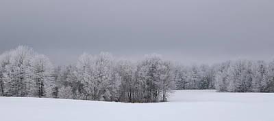 Photograph - Frosty Farm Fields by Dale Kauzlaric