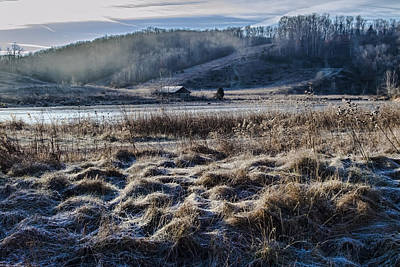 Frosty Farm Morning Art Print by Sven Brogren
