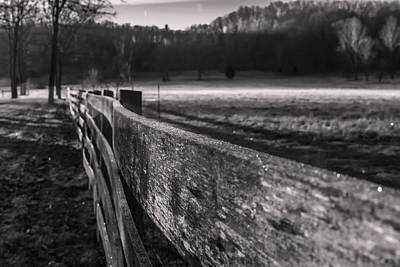 Brown County Indiana Photograph - frosty fence in rural Indiana by Sven Brogren