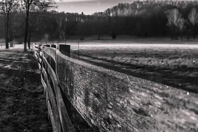 frosty fence in rural Indiana Art Print by Sven Brogren