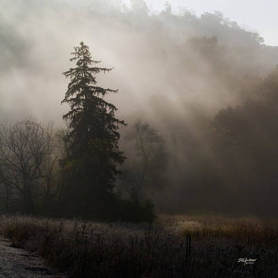 Frosty Foggy Morning Art Print