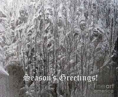 Photograph - Frosty Greetings 01 by Ausra Huntington nee Paulauskaite