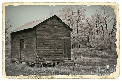 Mixed Media - Frosty Morning Sepia 1 by Chalet Roome-Rigdon